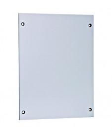 Dulap distrib. apl. IP65, 24UH, 2 rând. cu uşă transparentă BK080203